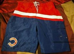 Chicago Cubs Bathing Swim Suit Trunks XL Shorts Blue Free Sh