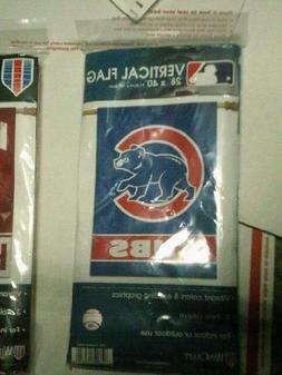 "Chicago Cubs Bear Vertical Hanging Flag Banner 28""x40"" Yard"
