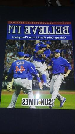 Chicago Cubs Believe It Commemorative Book World Series Cham
