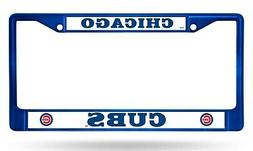 Chicago Cubs BLUE Chrome Frame Metal License Plate Tag Cover