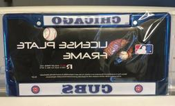 "Chicago Cubs ""Blue Chrome"" Metal License Plate Frame RIC"