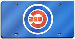 Chicago Cubs BLUE Deluxe Laser Cut Acrylic Mirrored License