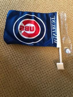 Chicago Cubs Blue Pinstripes Car Auto Window Flag