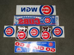 chicago cubs bumper stickers new old stock