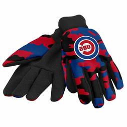 chicago cubs camouflage sports utility gloves work