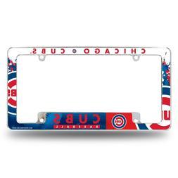 Chicago Cubs Chrome ALL OVER Premium License Plate Frame Cov