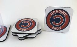 chicago cubs coasters set of 6 new
