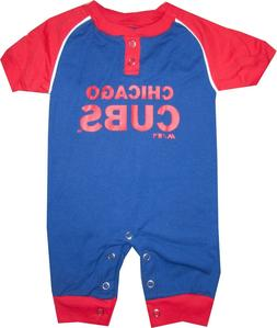 Chicago Cubs Coverall Baby Infant Clothes MLB Blue