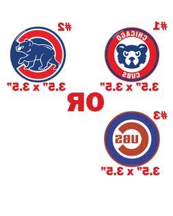 Chicago Cubs decal magnet car bumper fridge pc sport ps magn