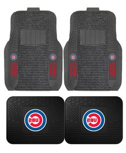 Chicago Cubs Deluxe Auto Floor Mats - Car, Truck, SUV