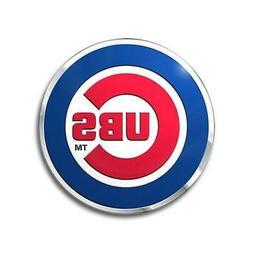 Chicago Cubs Die Cut Metal Auto Emblem  MLB Car Truck Decal