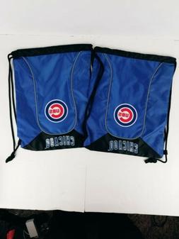 CHICAGO CUBS Doubleheader 2 Pack Backsack MLB Blue 17x13 Dra