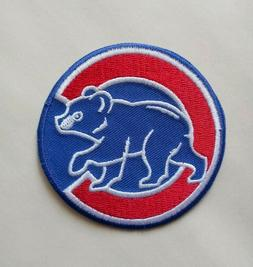 "Chicago Cubs Embroidered 2 7/8"" Iron On Patch"