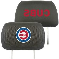 Chicago Cubs Embroidered Headrest Cover Pair  MLB Seat Rest