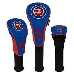 CHICAGO CUBS EMBROIDERED LOGO DRIVER FAIRWAY HYBIRD SET 3 HE