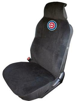 Chicago Cubs Embroidered Seat Cover  Car Auto MLB Black Truc