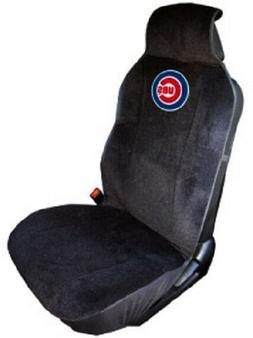 Chicago Cubs Embroidered Seat Cover   Car Auto MLB Black Tru