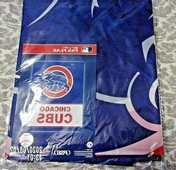 "CHICAGO CUBS FAN FLAG  36"" X 47"" NEW IN PACKAGE"