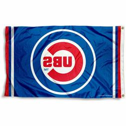 CHICAGO CUBS FLAG 3'X5' MLB BANNER: FAST FREE SHIPPING
