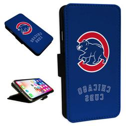 Chicago Cubs - Flip Phone Case Wallet Cover Fits Iphone & Sa