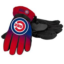 Chicago Cubs Gloves Logo Gradient Insulated Winter NEW Unise