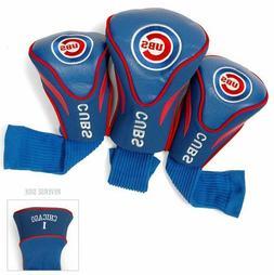 Chicago Cubs Golf Club 3 Piece Contour Headcover Set MLB Bas