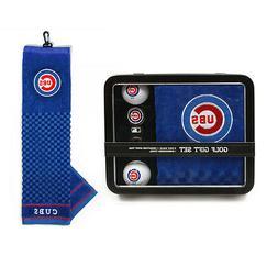 Chicago Cubs Golf Gift Set  MLB Towel Ball Divot Bag Golfing