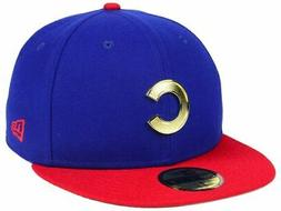 Chicago Cubs Hat Fitted New Era MLB Men's Golden Finish 59FI