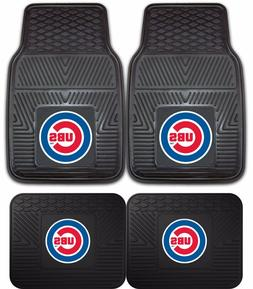 Chicago Cubs Heavy Duty Floor Mats 2 & 4 Pc Sets for Car Tru