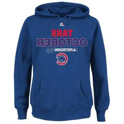 Chicago Cubs Hoodie Sweatshirt Majestic Royal 2015 Playoff T