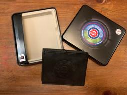 CHICAGO CUBS Leather Wallet    NEW Embossed logo in Metal Ca