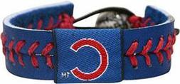 Chicago Cubs LEATHER Gamewear Wrist Bracelet BLUE
