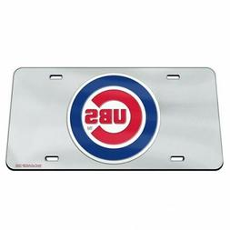 Chicago Cubs License Plate Mirrored Acrylic Bullseye
