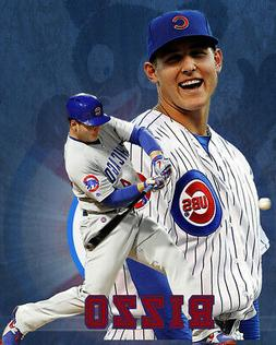 Chicago Cubs Lithograph print of Anthony Rizzo 2020 8 x 10