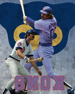 Chicago Cubs Lithograph print of Dave Kingman  2020