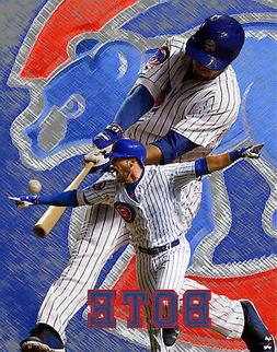 Chicago Cubs Lithograph print of  David Bote 11 x 14