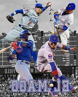 "Chicago Cubs Lithograph print of Javy Baez ""El Mago""  2020"
