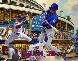 Chicago Cubs Lithograph print of Javy Baez  14 x 11