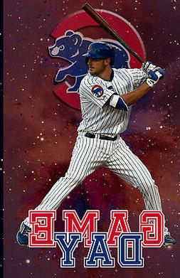 Chicago Cubs Lithograph print of Kris Bryant Game Day  11 x