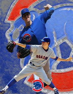 Chicago Cubs Lithograph print of Kyle Hendricks