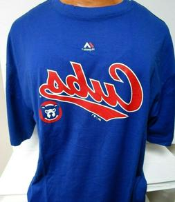 CHICAGO CUBS LOGO SHIRT NEW MAJESTIC MENS BIG TALL SIZES XLT