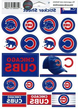 CHICAGO CUBS ~ Lot of  Stickers ~ 5x6 Inch Sticker Sheet ~ N