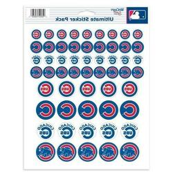 CHICAGO CUBS ~ Lot of  Stickers ~ 8x10 Inch Sticker Sheet ~