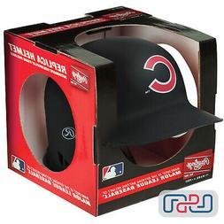 Chicago Cubs Matte Black Rawlings Mini MLB Baseball Batting