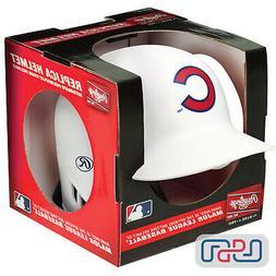 Chicago Cubs Matte White Rawlings Mini MLB Baseball Batting