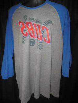 Chicago Cubs Men's MLB Apparel 3/4 Sleeve Shirt