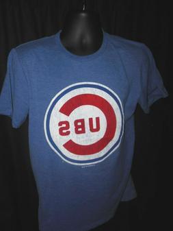 Chicago Cubs Men's MLB Apparel Stone Wash Design Shirt