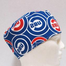 Chicago Cubs Mens Surgical Scrub Hat, Skull Cap, Chemo Hat