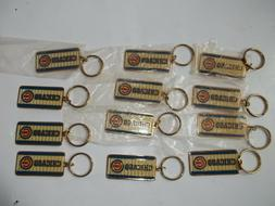 CHICAGO CUBS METAL KEY CHAINS, Lot of 12