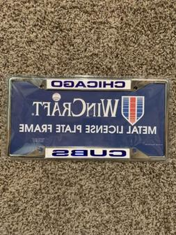 CHICAGO CUBS MIRRORED METAL LICENSE PLATE FRAME